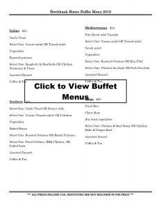 Buffet Choices Menu